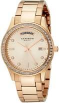 Akribos XXIV Women's AK691RG Impeccable -Tone Stainless Steel Crystal Bezel Bracelet Watch