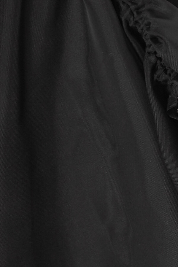 Thumbnail for your product : IOANNES Camilla Ruched Organza And Stretch-silk Mini Dress
