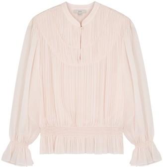 Joie Mumbi Light Pink Plisse Chiffon Blouse