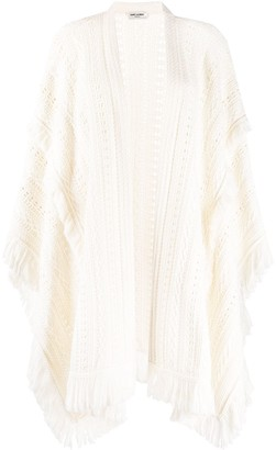 Saint Laurent Fringed-Edge Poncho