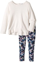 Splendid Littles All Over Printed Leggings with Cream Top Girl's Active Sets
