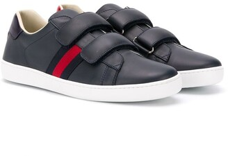 Gucci Kids touch-strap Web sneakers