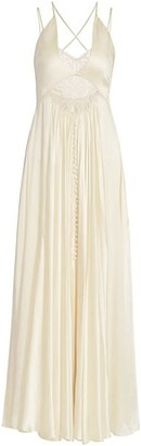 Jonathan Simkhai Kolbi Sandwashed Charmeuse Dress