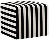One Kings Lane Baker Ottoman - Black/White Stripe