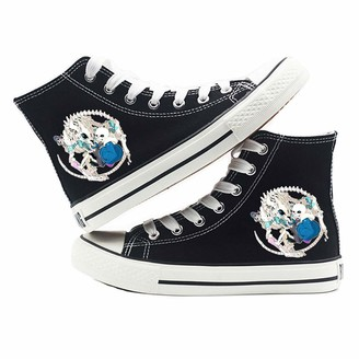 Dondonmin Undertale Shoes Wild High-top Shoes Casual Lace-up Sneakers Comfortable Canvas Unisex (Color : A13 Size : EU39 US7.5)