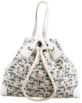 Tod's Printed Canvas Tote