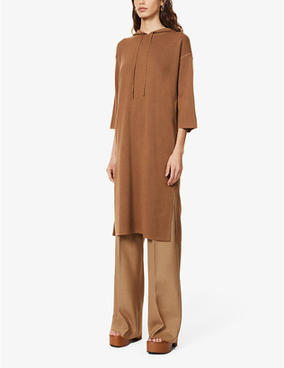 Max Mara Lerici hooded wool midi dress