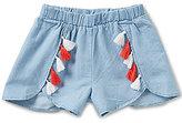 Copper Key Little Girls 4-6X Tassel Woven Shorts