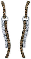 LeVian Le Vian Chocolatier® Diamond Linear Drop Earrings (1-1/3 ct. t.w.) in 14k White Gold