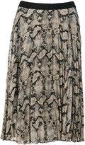 By Malene Birger snake print pleated skirt