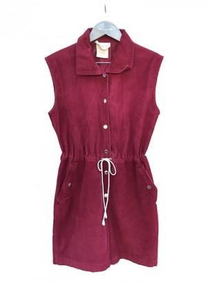 Courreges Burgundy Cotton Jumpsuit for Women Vintage