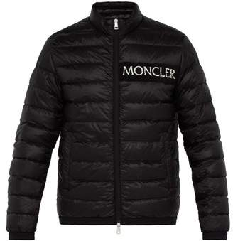 Moncler Neveu Logo Embroidered Down Filled Jacket - Mens - Black