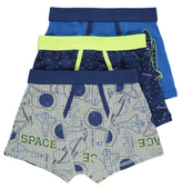 George 3 Pack Assorted Space Print Trunks