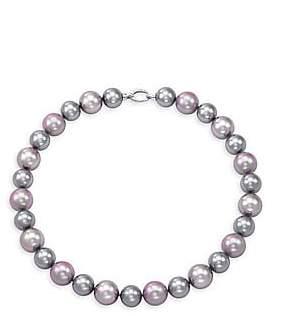 Majorica Women's Sterling Silver & 14-16MM Multicolor Faux Pearl Necklace