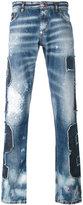 Philipp Plein patch denim jeans - men - Cotton/Polyester - 32