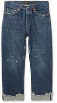 Chimala Distressed Selvedge Denim Jeans - Blue