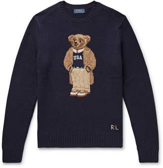 Polo Ralph Lauren Preppy Bear Intarsia Wool Sweater