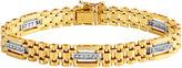 JCPenney FINE JEWELRY Mens 1/2 CT. T.W. Diamond 10K Gold Chain Link Bracelet