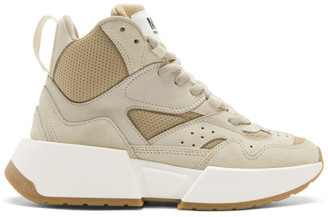 MM6 MAISON MARGIELA Beige High-Top Chunky Sneakers