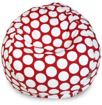Majestic Home Goods Indoor Hot Pink Large Polka Dot Classic Bean Bag Chair 28 in L x 28 in W x 22 in H
