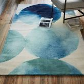 Watercolor Circles Rug - Seaglass Blue