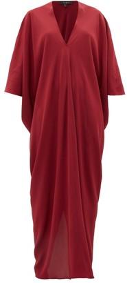 Thea - The Teodora Dolman-sleeve Silk-satin Maxi Dress - Womens - Red