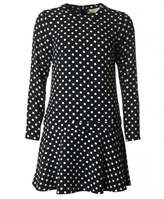 Michael Kors Polka Dot Fit And Flare Dress