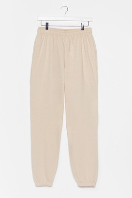 Nasty Gal Womens Jog the Limelight Stretch Joggers - Beige - L, Beige