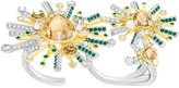 Swarovski Highness Double Ring, Multi-colored, Mixed plating