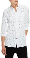 Scotch & Soda All Over Print Slim Fit Shirt, White