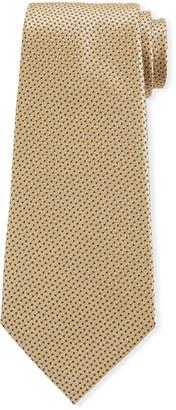 Ermenegildo Zegna Men's Chain Links Silk Tie, Gold