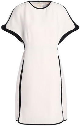 Valentino Belted Wool And Silk-blend Crepe Mini Dress