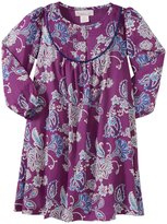 Masala Maya Indian Floral Dress (Toddler/Kid) - Purple-6 Years