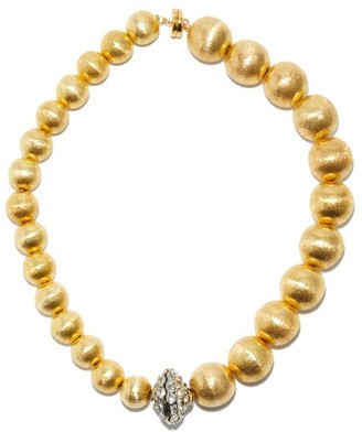 Timeless Pearly Crystal & 24kt Gold-plated Bead Choker Necklace - Crystal