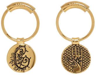 Chloé Gold Emoji Earrings