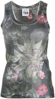 Twin-Set floral print tank top - women - Cotton/Spandex/Elastane - XS