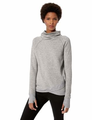 Jockey Women's Plus Size R&r Cowl Neck Sweatshirt