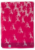 Joules New Womens Pink Wensley Polyester Scarf Scarves