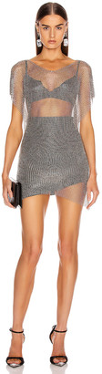 Fannie Schiavoni Eva Top in Silver | FWRD