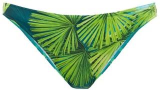 Versace Jungle-print Bikini Briefs - Green Print
