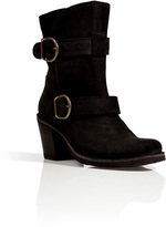 Fiorentini+Baker Fiorentini & Baker Suede Buckled Ankle Boots in Black