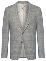 Hugo Boss Norwin Slim Fit, Cotton Linen Jersey Blazer 38R Grey