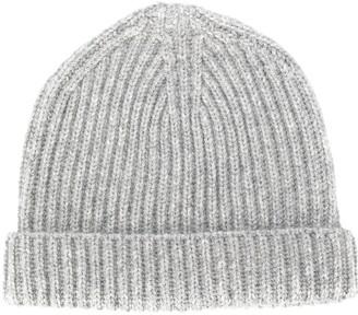 Ermenegildo Zegna Rib-Knit Beanie Hat