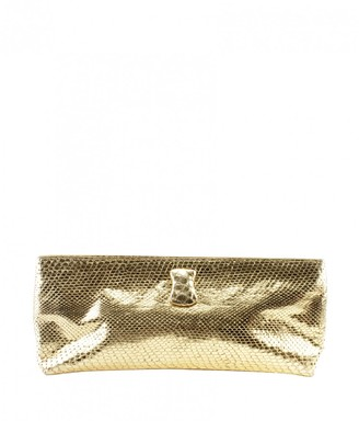 Nancy Gonzalez Gold Python Clutch bags