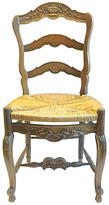 One Kings Lane Vintage Antique Country French Ladder Back Chair - Vermilion Designs - natural/brown