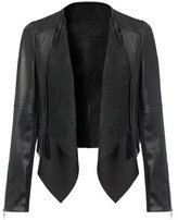 Angkel Fashion Casual Womens Marc Jacobs Faux Leather Jacket PU Tassel Lady's Coat