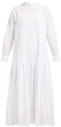 Queene and Belle Astrid Lace-insert Cotton Dress - Womens - White