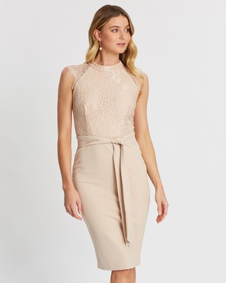Miss Holly - Women's Nude Midi Dresses - Ericka Dress - Size One Size, XS at The Iconic