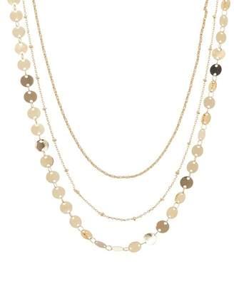 BaubleBar Triple Strand Choker Chain Necklace