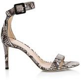Giuseppe Zanotti Neyla Snakeskin-Embossed Leather Sandals